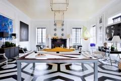 Biliárd asztal fekete-fehér