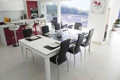 Fehér-étkezőasztal